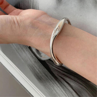 TODAYFUL - silver 925 waving bangle