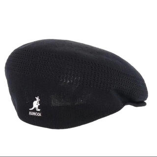 KANGOL キャスケット ハンチング ベレー帽黒 メッシュタイプ