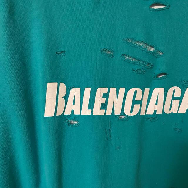 Balenciaga(バレンシアガ)の【国内完売】 BALENCIAGA CAPS DESTROYED フーディー メンズのトップス(パーカー)の商品写真
