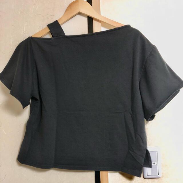 MURUA(ムルーア)のmurua ムルーア カットソー トップス Tシャツ ブラック 黒 韓流 韓国 レディースのトップス(カットソー(半袖/袖なし))の商品写真
