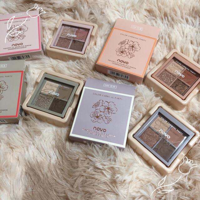 このページだけの特価❤️novo❤️4色アイシャドウパレット4種セット✨ コスメ/美容のベースメイク/化粧品(アイシャドウ)の商品写真