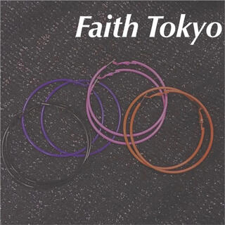 Bubbles - faithtokyo フープピアス パープル 紫 アクセサリー リング
