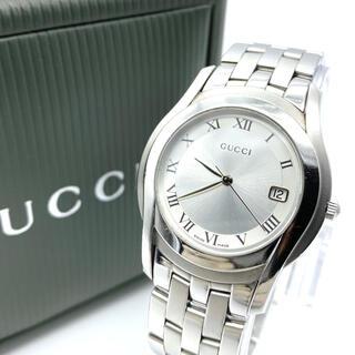 Gucci - 新品電池交換済み 良品☆GUCCIグッチ 5500M  メンズ腕時計