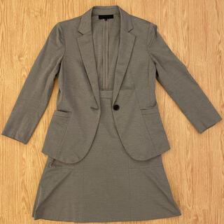 UNTITLED - [美品]スーツ スカート グレー ウォッシャブル