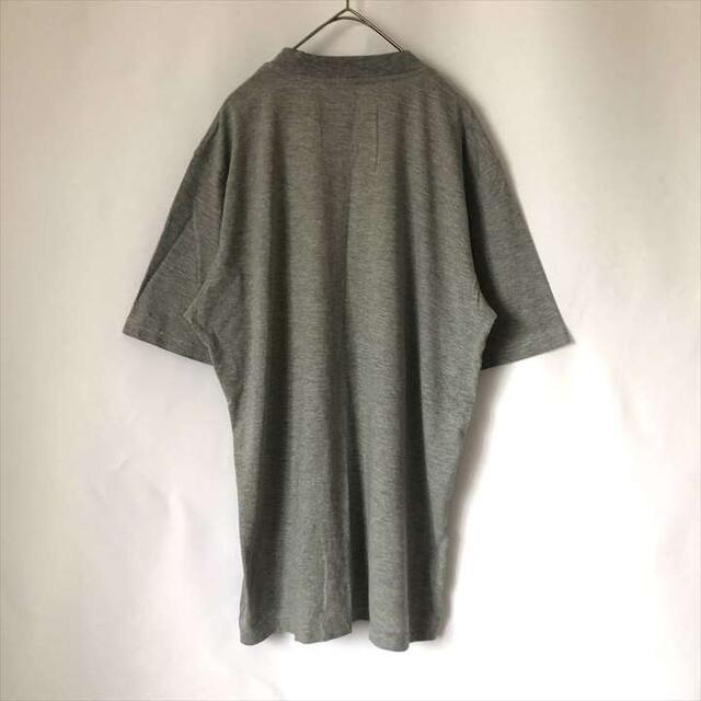 adidas(アディダス)の90s 古着 アディダス Tシャツ 三本線ロゴ グレー メンズのトップス(Tシャツ/カットソー(半袖/袖なし))の商品写真