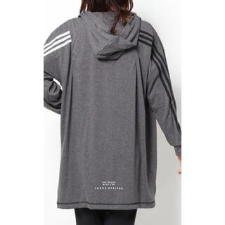adidas - アディダス L ロング ガウン パーカー レディース 新品 ♡ キッズ ジュニア