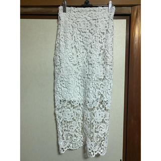 snidel - snidel 花柄レースタイトスカート
