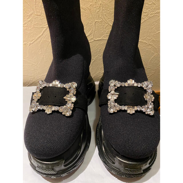 Rady(レディー)の超美品!Rady ビジューソックスブーツLサイズ レディースの靴/シューズ(ブーツ)の商品写真