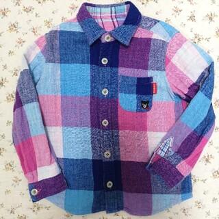 ダブルビー(DOUBLE.B)のミキハウス ダブルBのリバーシブルチェックシャツ 110☆(ブラウス)
