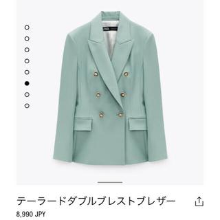 ZARA - 今季!流行りのZARA ジャケット グリーンジャケット