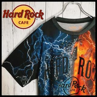【希少デザイン】Hard Rock ハードロックカフェ 海外Tシャツ ポリシャツ(Tシャツ/カットソー(半袖/袖なし))