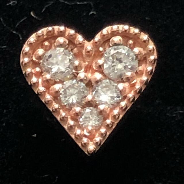 ete(エテ)のete エテ ダイヤモンド ポストK18 ハート ピアス 値下げ レディースのアクセサリー(ピアス)の商品写真