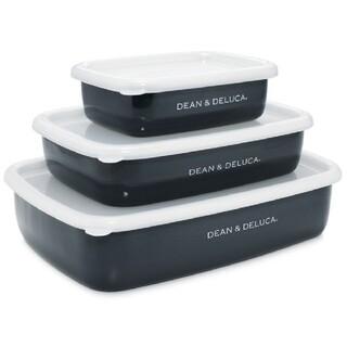 ディーンアンドデルーカ(DEAN & DELUCA)の【新品未使用】DEAN&DELUCA ホーローコンテナ3サイズセット(容器)