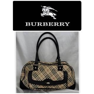 バーバリー(BURBERRY)の♐バーバリーBURBERRY♐ノヴァチェックキャンバス ■ボストンバッグ(ボストンバッグ)