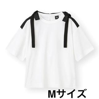 アンダーカバー(UNDERCOVER)のGU×UNDERCOVER リボンデザインT(5分袖)OFF WHITE(Tシャツ(半袖/袖なし))