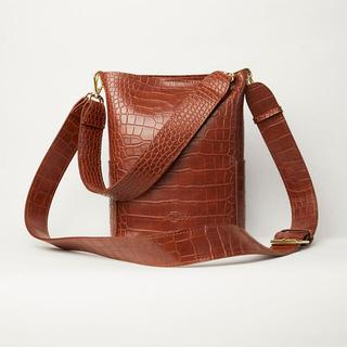 RANDEBOO RB croco bucket bag (brown)(ハンドバッグ)