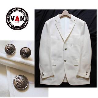 ヴァンヂャケット(VAN Jacket)のカズ様専用 新品 メタルボタン ラッセルニット 3Bジャケット LL(テーラードジャケット)