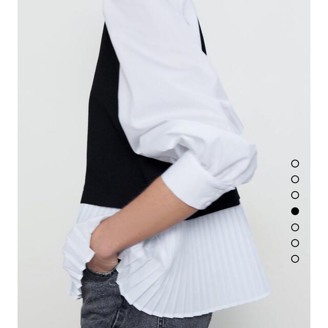 ZARA(ザラ)のZARA コントラストトップス レディースのトップス(シャツ/ブラウス(長袖/七分))の商品写真