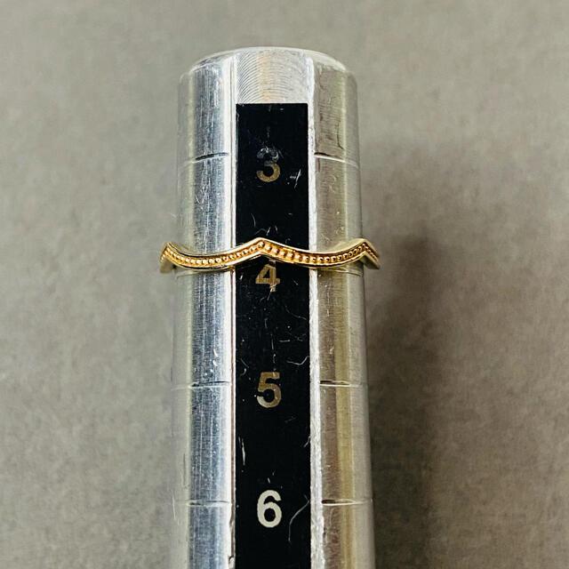 ete(エテ)のk10 ete エテ リング ミル打ち イエローゴールド 4号 レディースのアクセサリー(リング(指輪))の商品写真