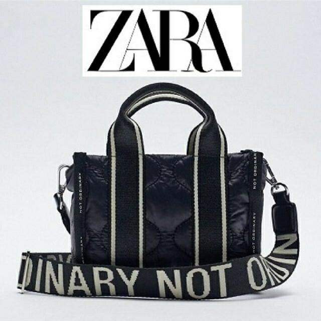 ZARA(ザラ)の新品 ZARA  キルティングバック ロゴショルダー レディースのバッグ(ショルダーバッグ)の商品写真