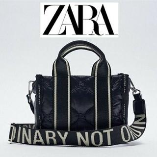 ZARA - 新品 ZARA  キルティングバック ロゴショルダー