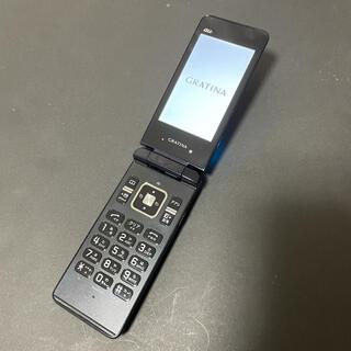 キョウセラ(京セラ)の【au】KYOCERA GRATINA KYY02 ブラック(携帯電話本体)