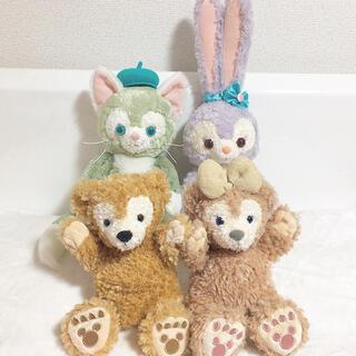 Disney - ぬいぐるみ(ジェラトーニ、ステラルー)&パペット人形(ダッフィー、シェリーメイ)
