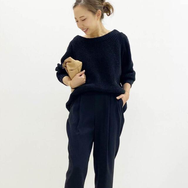 DEUXIEME CLASSE(ドゥーズィエムクラス)の美品☆Lily Linen アゼ プルオーバー/ブラック レディースのトップス(ニット/セーター)の商品写真