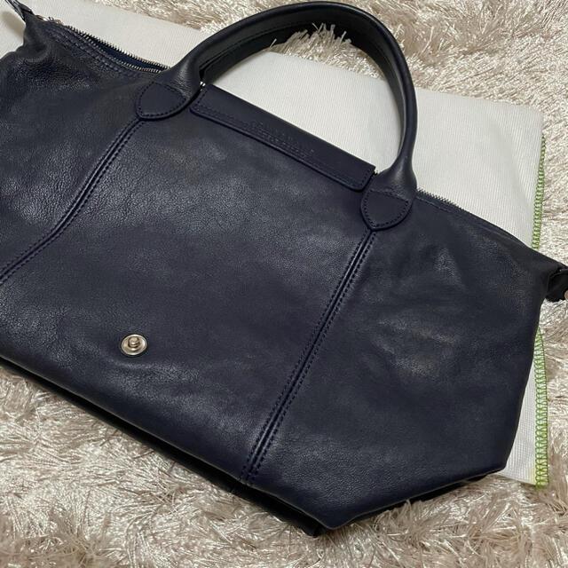LONGCHAMP(ロンシャン)の【Longchamp】美品★ルプリアージュ レザーバック ネイビー レディースのバッグ(ハンドバッグ)の商品写真