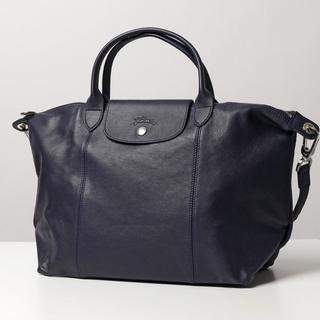 LONGCHAMP - 【Longchamp】美品★ルプリアージュ レザーバック ネイビー