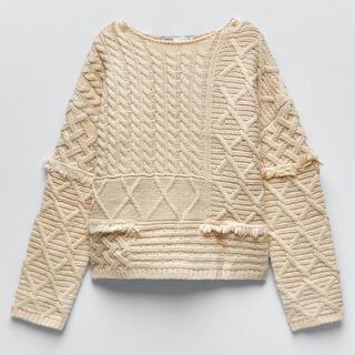 ZARA - ZARAパッチワークデザインニットセーター