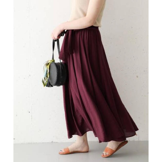 URBAN RESEARCH ROSSO(アーバンリサーチロッソ)の新品 アーバンリサーチロッソ  フレア マキシスカート レディースのスカート(ロングスカート)の商品写真