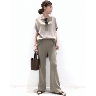 L'Appartement DEUXIEME CLASSE - ☆アパルトモン☆ Rib Knit パンツ/ベージュ34