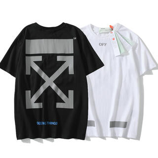 OFF-WHITE - 2枚1万円 自由に組み合わせ OFF-WHITE シャツ 男女兼用 DO21