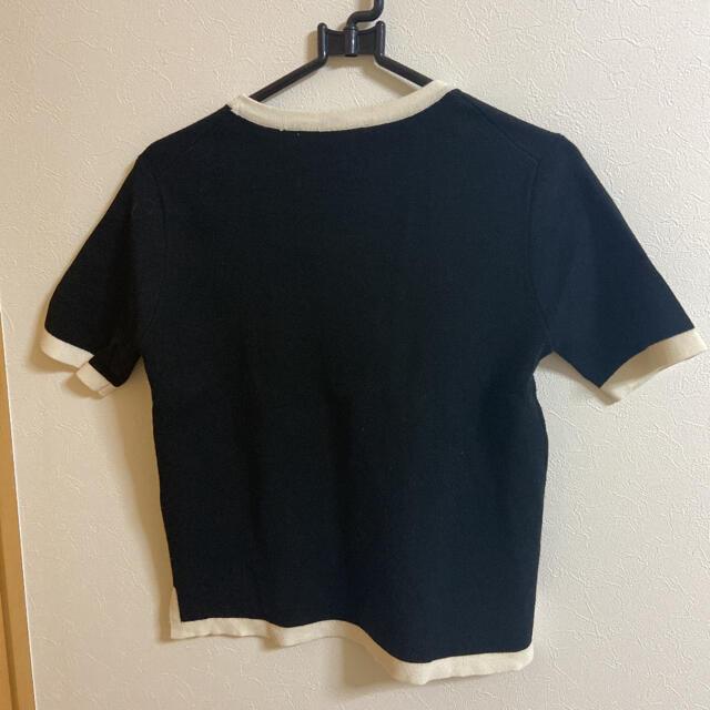ZARA(ザラ)のzara 半袖ニット レディースのトップス(Tシャツ(半袖/袖なし))の商品写真