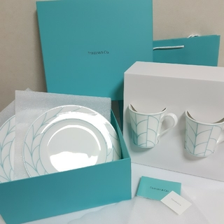 ティファニー(Tiffany & Co.)のティファニー ウィートリーフ マグカップ プレート ギフトセット(食器)