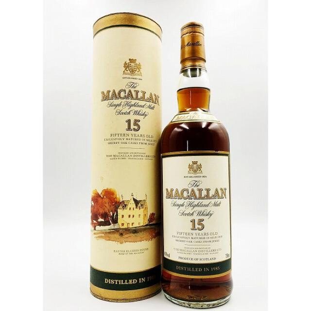 マッカラン15年旧ボトル 1985 750ml 43度 [オールドボトル/古酒] 食品/飲料/酒の酒(ウイスキー)の商品写真