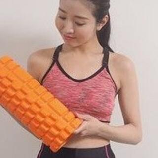 大特価セール! フォームローラー 筋膜リリース ローラー 背中 オレンジ(ヨガ)