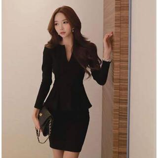 【本日限定セール】ZARAジャンル 韓国ファッション ペプラムキャバドレス XL