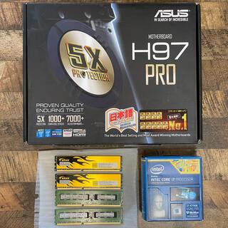 エイスース(ASUS)のCore i7 4790k+ASUS H97-PRO+RAM16GBセット(PCパーツ)