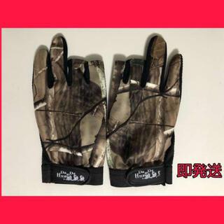 釣り用 手袋 迷彩フィッシンググローブ指3本出し釣道具 防寒グローブ (ウエア)