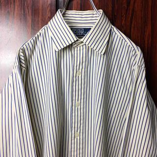 Ralph Lauren - 90s ラルフローレン ストライプシャツ M クリーム