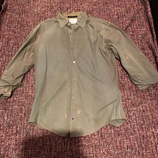 ユリウス(JULIUS)のユリウス7部袖ペンキ加工色褪せ加工シャツ(Tシャツ/カットソー(七分/長袖))