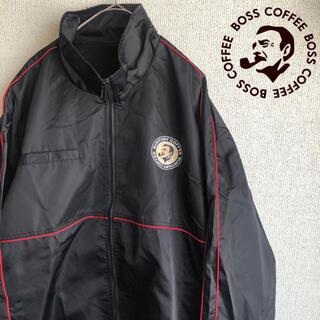 90s SUNTORY BOSS ナイロン ジャケット ブルゾン ブラック 黒