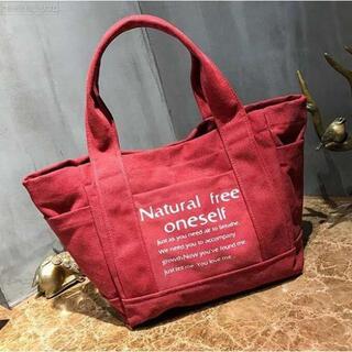 【新品】トートバッグ 2way レディース ハンドバッグ キャンバス 赤