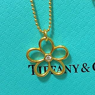 Tiffany & Co. - 美品tiffanyガーデンフラワーダイヤ750ゴールドネックレス