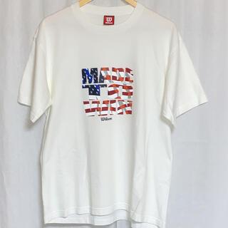ウィルソン(wilson)の美品 Wilson 半袖プリントTシャツ ビッグシルエット c-337g(Tシャツ/カットソー(半袖/袖なし))