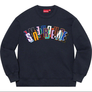 Supreme - supreme Stacked Crewneck L クルーネック スウェット