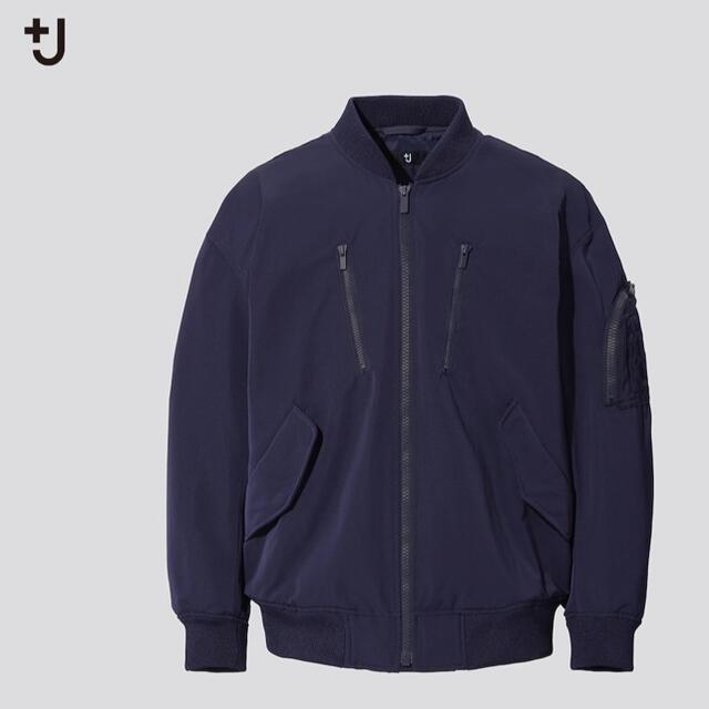 UNIQLO(ユニクロ)のユニクロ +J オーバーサイズブルゾン ネイビー メンズのジャケット/アウター(ブルゾン)の商品写真