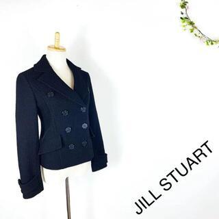 ジルスチュアート(JILLSTUART)のJILL STUART テーラードジャケット スーツ 黒 ブラック S(テーラードジャケット)